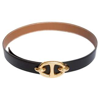 Hermes Gold Leather Belt