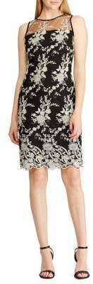 Lauren Ralph Lauren Mesh-Yoke Lace Dress