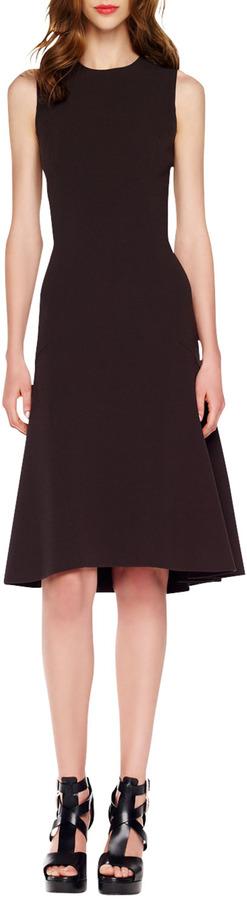 Michael Kors A-Line Crepe Dress, Blackberry