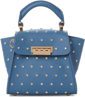 Zac Posen Denim Eartha Iconic Mini Bag with Swarovski Crystals
