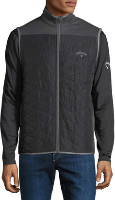 Callaway Men's Quilted Stand-Collar Zip Vest