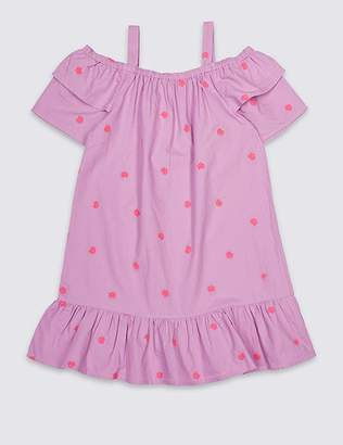 Marks and Spencer Embroidered Pure Cotton Dress (3-16 Years)