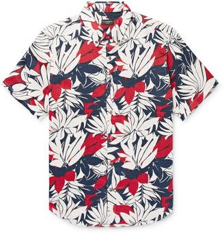 Club Monaco Slim-Fit Button-Down Collar Floral-Print Linen Shirt - Men - Red