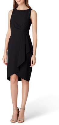 Tahari Ruched Side Crepe Sheath Dress