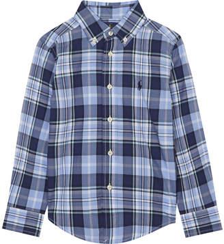 Ralph Lauren Plaid check poplin shirt 2-4 years