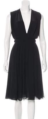 L'Agence Accent Midi Dress