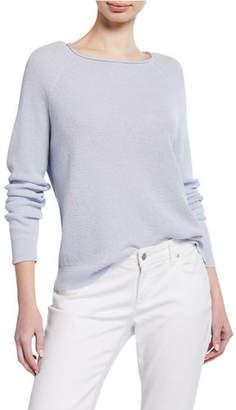 Eileen Fisher Organic Linen-Cotton Long-Sleeve Sweater