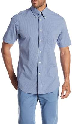 Brooks Brothers Mini Gingham Short Sleeve Regular Fit Shirt
