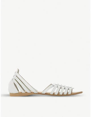 Dune Gili multi-strap design leather sandals