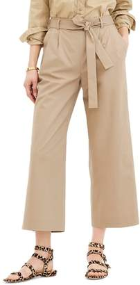 J.Crew J. CREW Wide Leg Stretch Cotton Poplin Crop Pants
