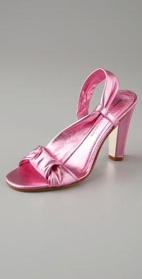 Diane von Furstenberg Shoes Provence Metallic High Heel Sandal
