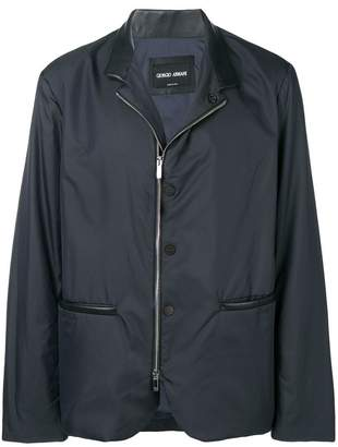 Giorgio Armani zipped waterproof blazer