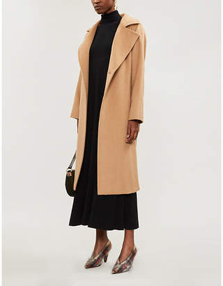 Max Mara Arlette pleated wool turtleneck maxi dress
