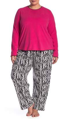 Hue Frosty Zebra 2-Piece Pajama Set