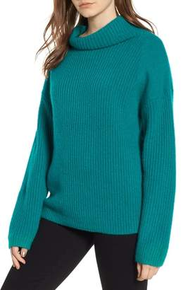 Trouve Rib Funnel Neck Sweater