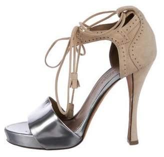 Hermes Metallic Brogue Sandals