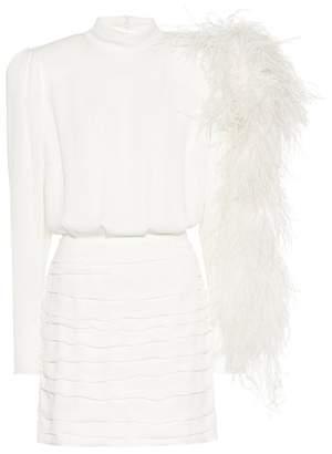 Magda Butrym Dubai silk minidress with feathers