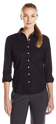 Dockers Women's Ideal Long Sleeve Stretch Shirt $30 thestylecure.com