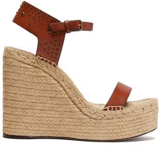 Saint Laurent Studded espadrille wedge sandals