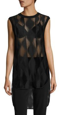 DKNY Jacquard Laced Tunic $398 thestylecure.com