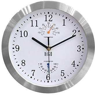 HITO Silent Non-ticking Wall Clock- Aluminum Frame Glass Cover