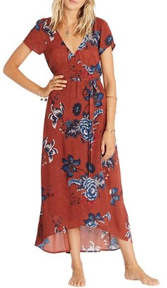 Billabong Wrap Me Up Floral Print Maxi Dress $64.95 thestylecure.com