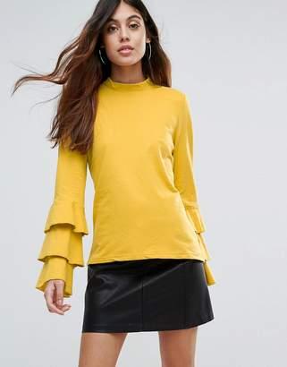 Vero Moda Frill Sleeve Tiered Top