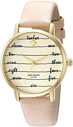 Kate Spade Women's 'Metro' Quartz Stainless Steel and Leather Casual Watch