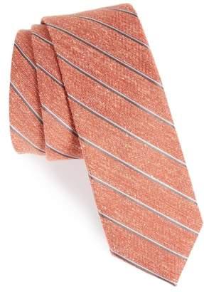 The Tie Bar Pike Stripe Silk Skinny Tie