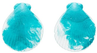 Dinosaur Designs resin fan shell earrings