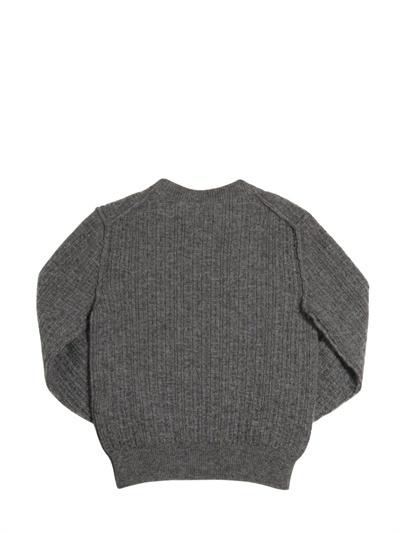 Dolce & Gabbana Round Neck Ribbed Cashmere Jumper