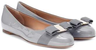 Salvatore Ferragamo Varina patent leather ballerinas