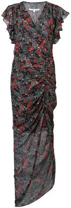 Veronica Beard ruched floral dress