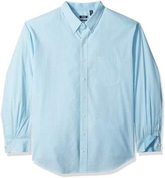 Izod Men's Tall Essential Gingham Long Sleeve Shirt