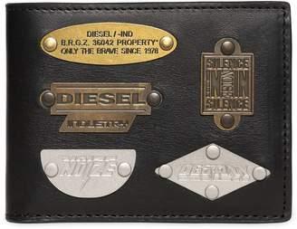 Diesel Metal Plaques Leather Wallet