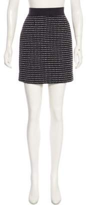 Milly Patterned Mini Skirt