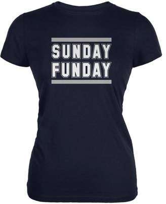 Old Glory Sunday Funday Dallas Navy Juniors Soft T-Shirt