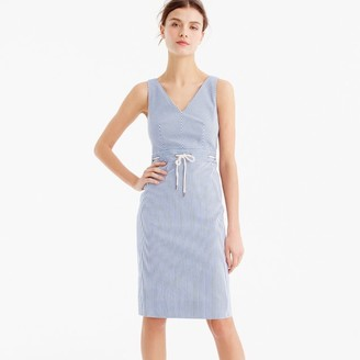 Tall double V-neck dress in stretch seersucker $128 thestylecure.com