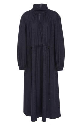 Tibi Double Faced Menswear Tweedy Stripe Dress