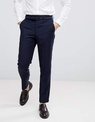 French Connection Birdseye Weave Slim Fit Suit Pants