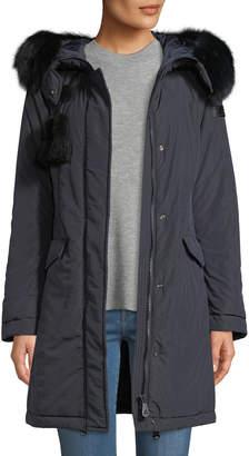 Peuterey Aponi Hooded Parka Coat w/ Detachable Fur