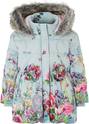 Monsoon Baby Libby Border Print Padded Coat