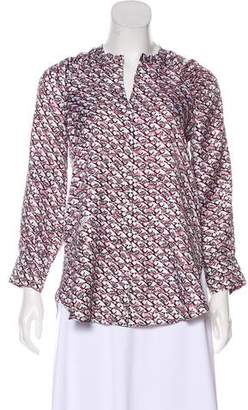 Schumacher Dorothee Silk Abstract Print Top