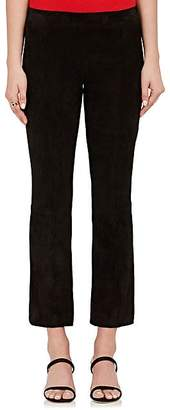 The Row Women's Suede Flared Crop Pants - Black