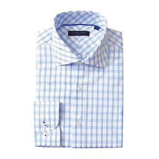 ANDREW FEZZE Andrew Fezze Long Sleeve Poplin Pattern Dress Shirt - Slim