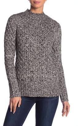 Kensie Long Sleeve Marled Knit Sweater