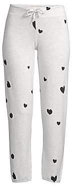 Monrow Women's Cotton-Blend Heart Lounge Pants