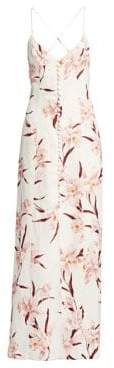 Zimmermann Corsage Linen Orchid Maxi Dress