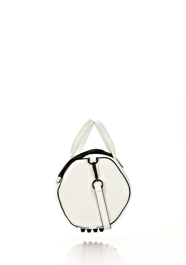 Alexander Wang Rockie In White Soft Pebble With Matte Black