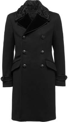 Prada double breasted wool coat